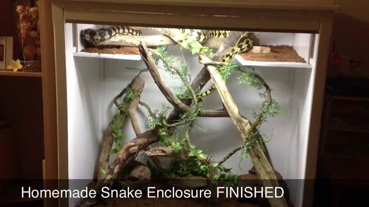 Diy Snake Enclosure Finished Youtube