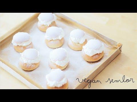 Vegan Semlor: Swedish Almond Cream Buns | Bollos suecos de nata y almendra
