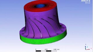 A CFD Radial Turbine  Ansys Blade Design Modeler Editor and TurboGrid Flow path and Export points