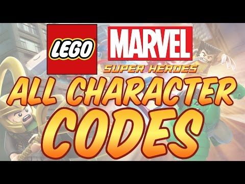 Lego Marvel Super Heroes - All Character Codes