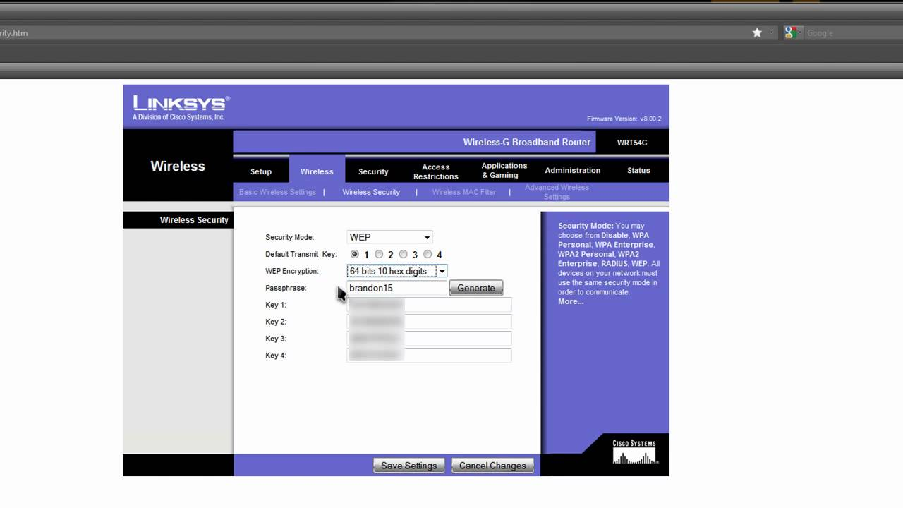 configuracion y seguridad para un router linksys youtube rh youtube com Cisco WRT120N Specs Linksys WRT120N Manual
