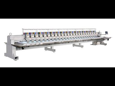 видео: Многоголовочная вышивальная машина Ricoma F series (только плоское запяливание)