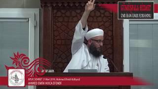 Aylık Sohbet 1 Mart 2018, Ahmed Emin Hoca Efendi, Mahmud Efendi Külliyesi