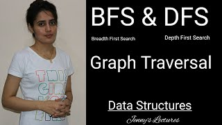 BFS and DFS Graph Traversals| Breadth First Search and Depth First Search | Data structures