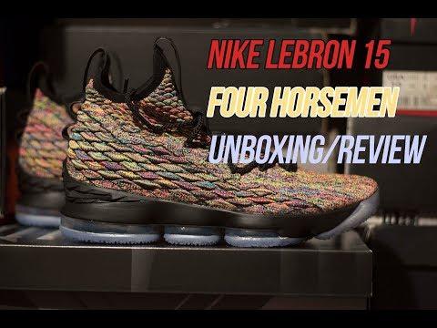 67796fbb9be8 Nike Lebron 15  Four Horsemen   Sneaker Unboxing ...