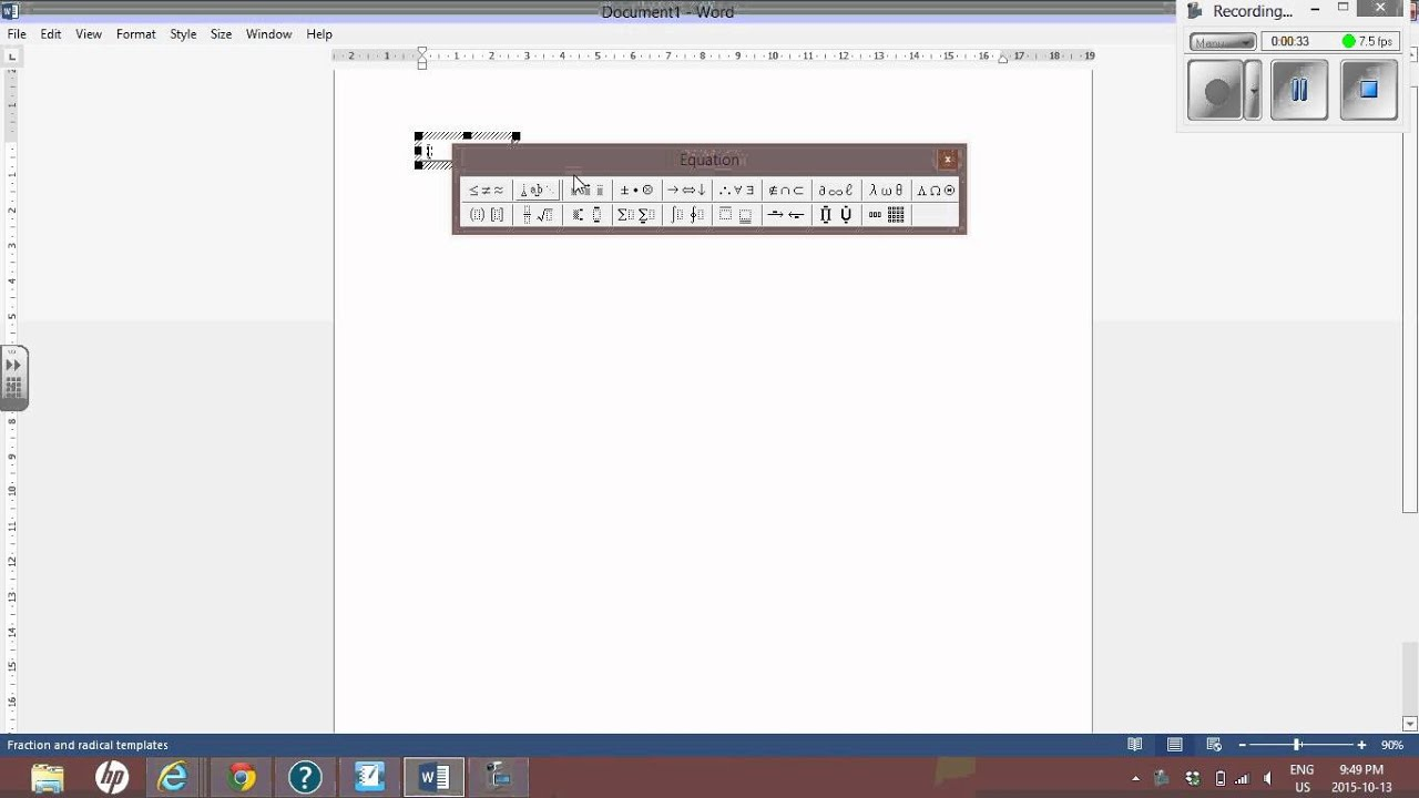 Equation Editor Long Division Microsoft Office Word Youtube