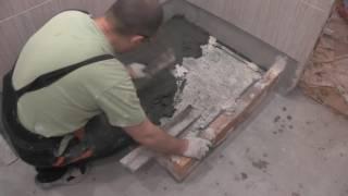 Как сделать душевой поддон из плитки, часть 2