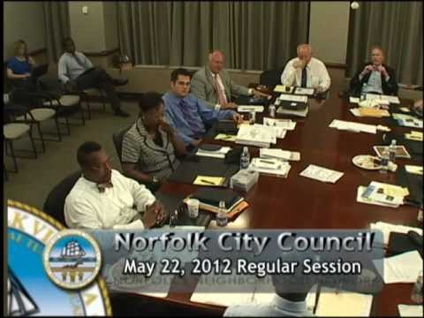 Regular 05/22/12 Session - Norfolk City Council
