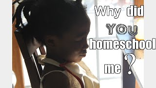 "Ms. Mocha Baby asks, ""Why did you homeschool me?"""
