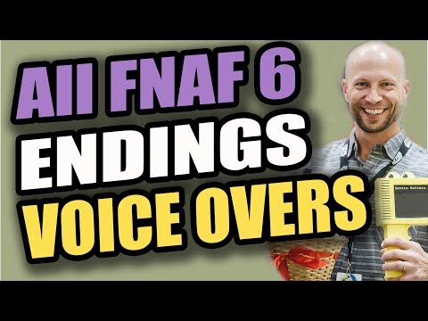 All Endings to FNAF 6 Pizzeria Simulator: FNAF Voice Actor Behind the Scenes! Spoiler Endings