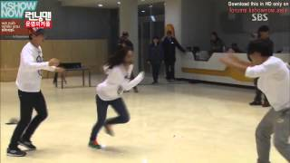 Ji Hyo is Angry with Flying Kick