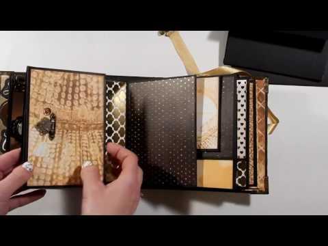 Golden Romance 6x6 Mini Album Tutorial - Part 2