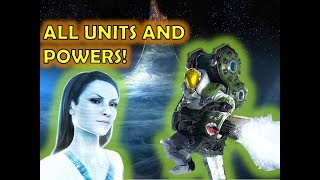 SERINA ALL UNITS AND LEADER POWERS SHOWCASE! - Halo Wars 2 leader DLC GAMEPLAY