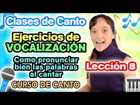 Clases de canto Lección 8 - Ejercicios de Vocalización y DICCIÓN | CECI SUAREZ Curso de Canto