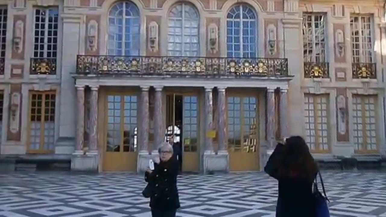 Entrance of the Palace of Versailles Front door November 2015 & Entrance of the Palace of Versailles Front door November 2015 - YouTube