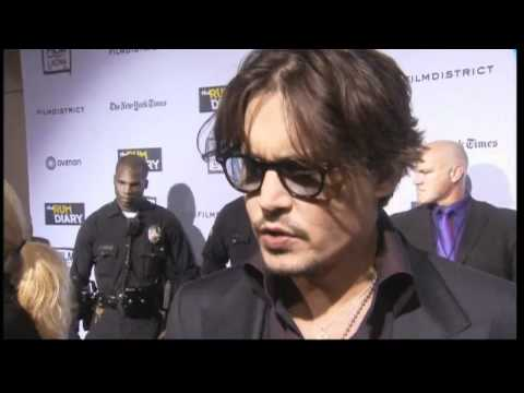 Johnny Depp in LA for premiere of The Rum Diary