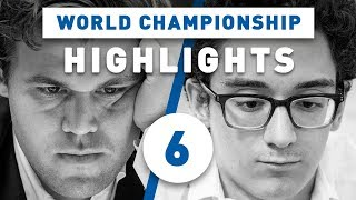 Carlsen - Caruana Game 6 Highlights World Chess Championship 2018