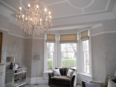 Bay Window Roman Blinds White Design Uk Youtube