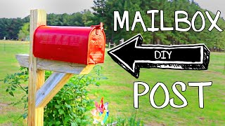 How to Build and Install a Mailbox Post for Mail or for Garden Storage