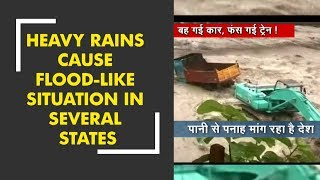Heavy rainfall leads to flood like situation in several states of India