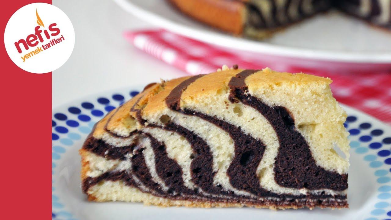 Kek Kalıbında Zebra Kek Yapılışı Videosu