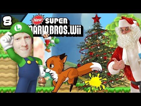 Vossenurine Op Je Kerstboom! - New Super Mario Bros Wii #8