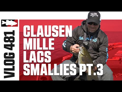 Luke Clausen Fishing Smallmouth On Mille Lacs Pt. 3 - Tackle Warehouse VLOG #481