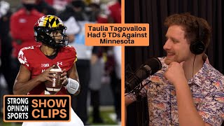 Taulia Tagovailoa Had 5 TDs Vs Minnesota