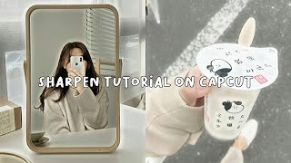 (eng/indo sub) easy way to sharpen or hd on capcut app screenshot 2