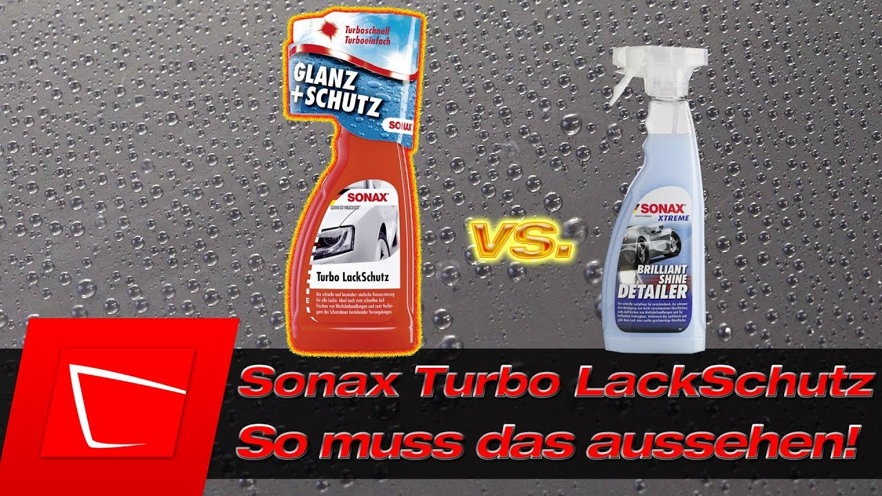 sonax turbo lackschutz vs sonax brilliant shine detailer. Black Bedroom Furniture Sets. Home Design Ideas