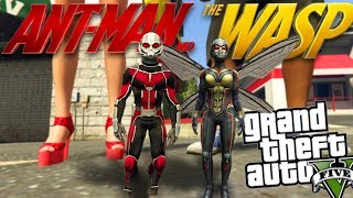 GTA 5 Mods - MARVEL'S ANT-MAN AND THE WASP MOD (GTA 5 Mods Gameplay)