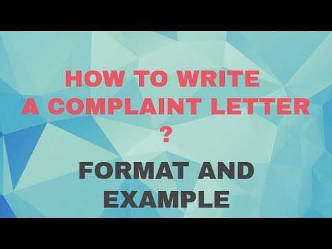 How to write complaint letter pdf