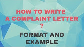 Complaint Letter--How to Write an Effective Letter of Complaint