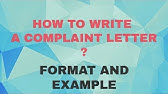 Letter of Complaint for class 10-12 (Letter writing tips