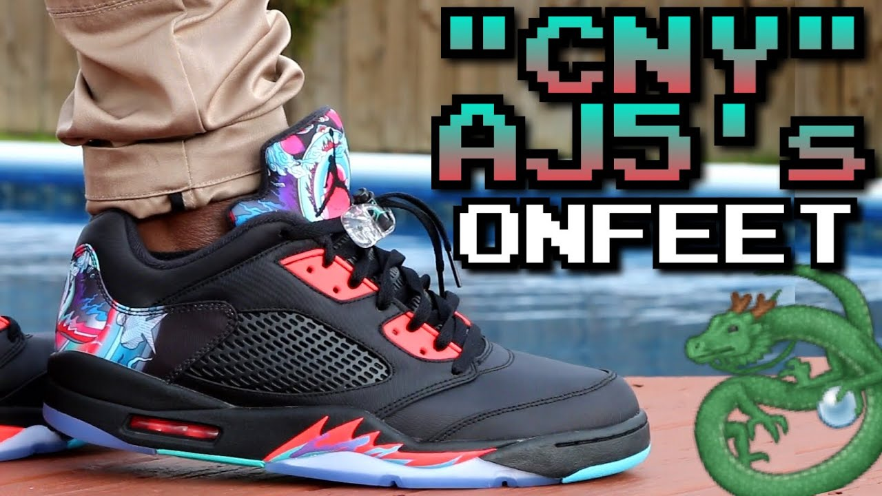chinese new year air jordan 5 w on feet review youtube - Jordan Chinese New Year