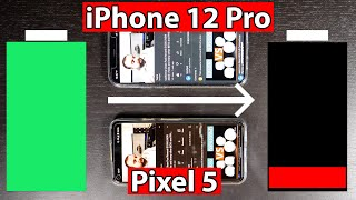 iPhone 12 Pro VS Pixel 5 Battery Test and the Winner is ...