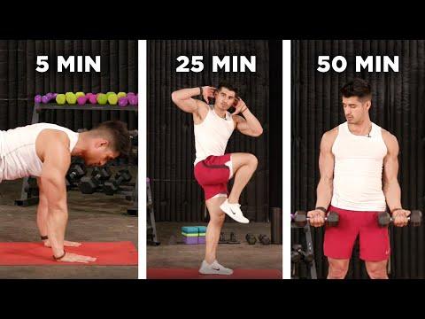 5-Minute Vs. 25-Minute Vs. 50-Minute Workout