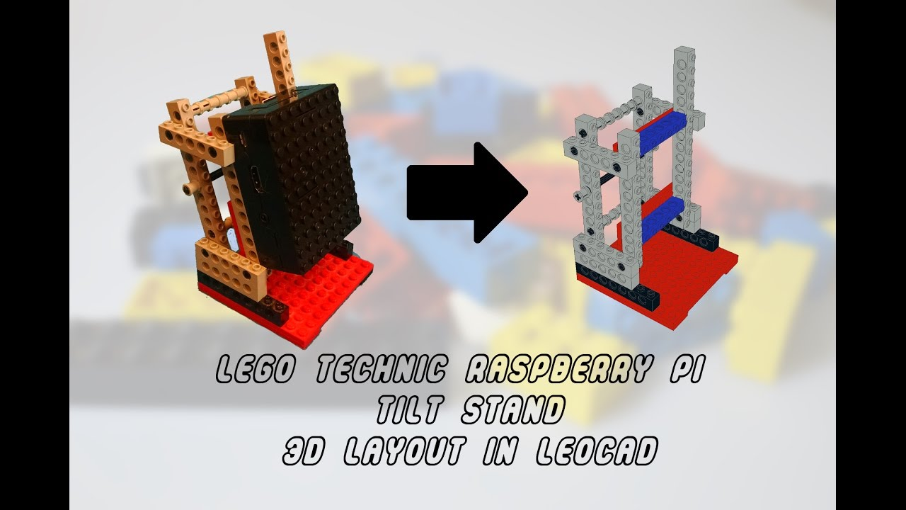 Modeling the Raspberry Pi LEGO Technic tilt stand in LeoCAD