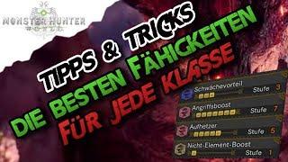 Monster Hunter World - Die besten Fähigkeiten / Juwelen für alle Klassen (Deutsch/German) - MH
