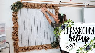 CLASSROOM SETUP 2019 DAY 2 | #clearthelists | Teacher Vlogs