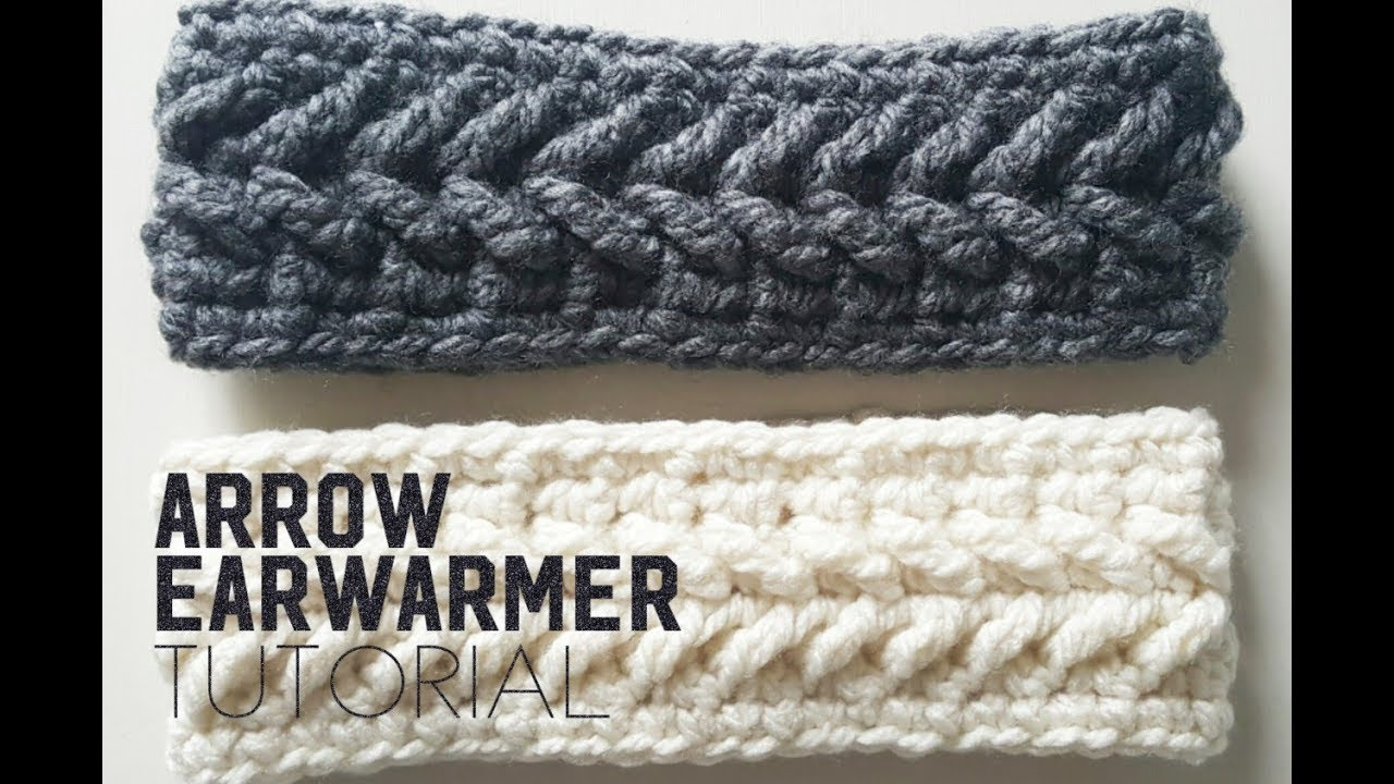 How to crochet the arrow earwarmer arrow earwarmer crochet how to crochet the arrow earwarmer arrow earwarmer crochet tutorial headband baditri Image collections