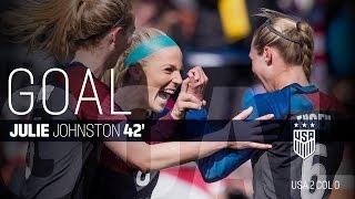 WNT vs. Colombia: Julie Johnston Goal - April 10, 2016