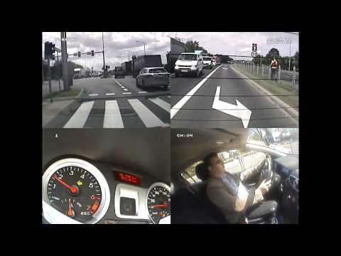 Nauka Jazdy -zadania egzaminacyjne w ruchu drogowym - trasy w obrębie  WORD Leszno