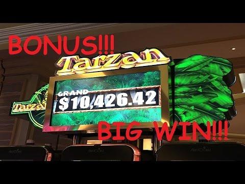 Big Win Bonus Tarzan Slot Machine Youtube