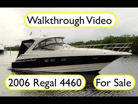 2006 Regal 4460 Walkthrough   189k Biscayne Bay   For Sale   Contact TS@DenisonYachting.com