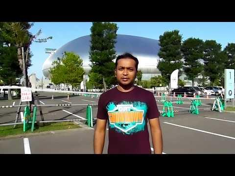 "World famous Retractable surface Stadium ""Sapporo Dome""."