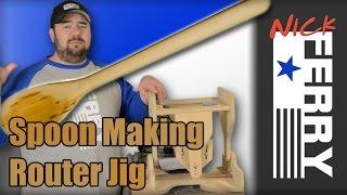 Ⓕ Spoon Making Router Jig (ep43) Kitchen Utensil Challenge