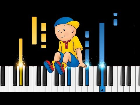 Caillou Theme Song - Piano Tutorial & Sheets