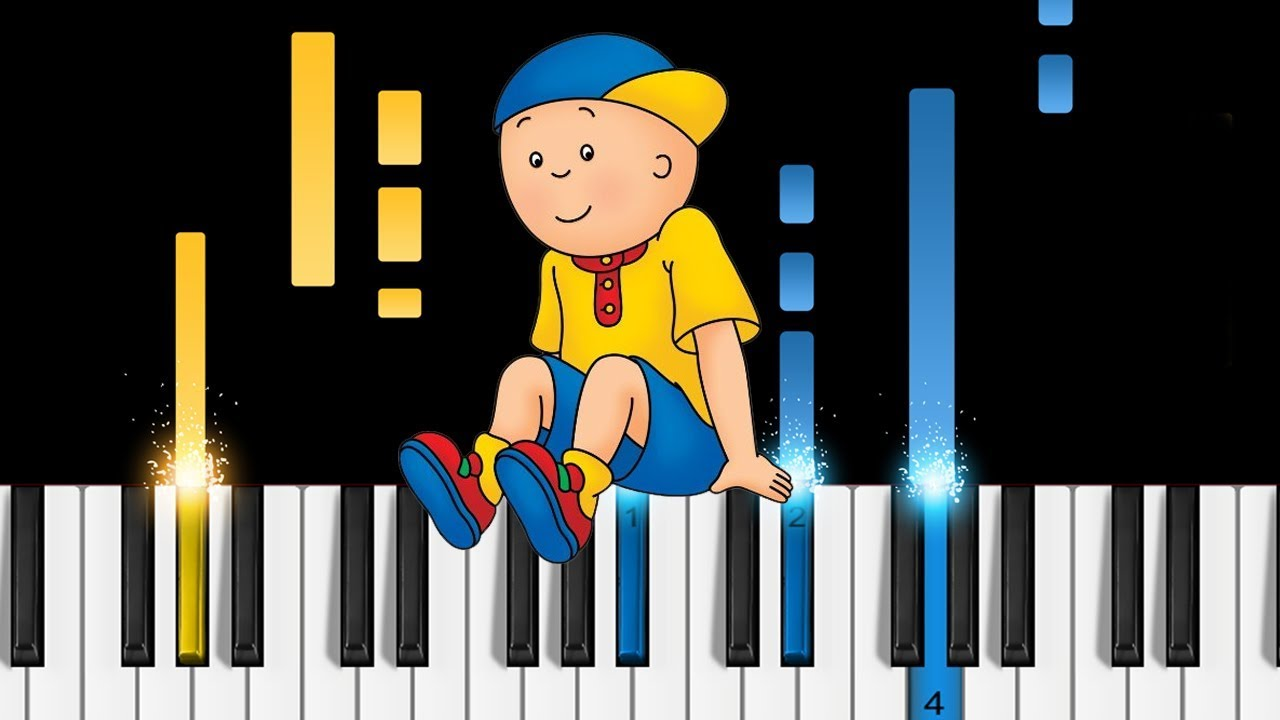 caillou theme song piano tutorial sheets youtube. Black Bedroom Furniture Sets. Home Design Ideas