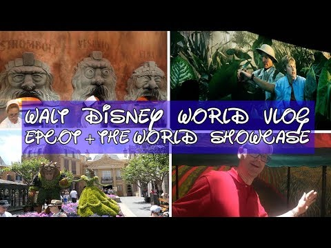 Disney World Vlog 8 April 2017 : Epcot - Imagination, World Showcase & Ellen's Energy Adventure